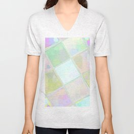 Re-Created Mirrored SQ I by Robert S. Lee Unisex V-Neck