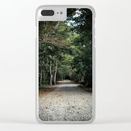 Roads Less Traveled Clear iPhone Case