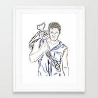 daryl dixon Framed Art Prints featuring Daryl Dixon by Salina Ayala