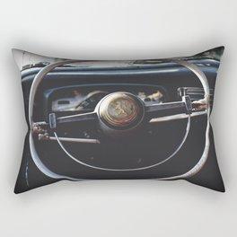 The wheel turns slowly Rectangular Pillow