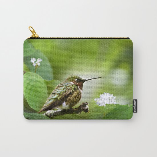 Hummingbird Sitting Carry-All Pouch