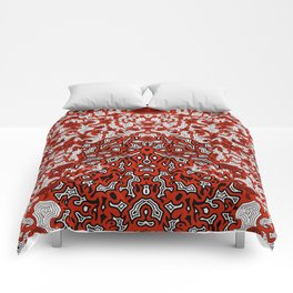 Bled Out Red Comforters