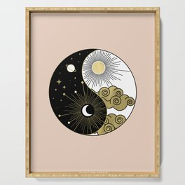 Yin and Yang Theme Serving Tray