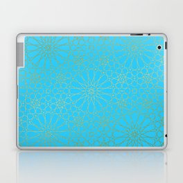 Moroccan Nights - Gold Teal Mandala Pattern - Mix & Match with Simplicity of Life Laptop & iPad Skin