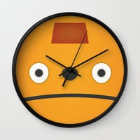 grim fandango Wall Clocks featuring Glottis - Grim Fandango by Jose Zelig