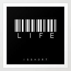 barcode LIFE Art Print
