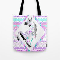 kris tate Tote Bags featuring ▲TWIN SHADOW ▲by Vasare Nar and Kris Tate  by Kris Tate