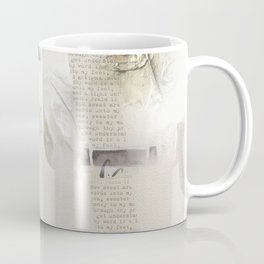 Abstract - Tranquility 2 - Soft Neutral Colour Collage - Mixed Media Coffee Mug