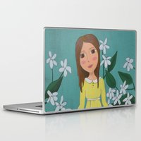 jasmine Laptop & iPad Skins featuring Jasmine by Jarillo ArtCraft
