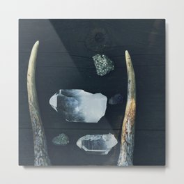 Pyrite and Light Metal Print