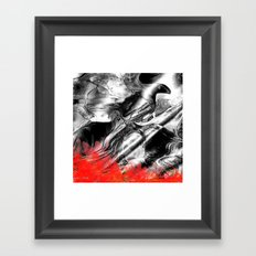 Abstract Fire Bird Framed Art Print