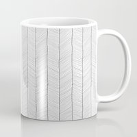 herringbone Mugs featuring Herringbone by EtOfficina