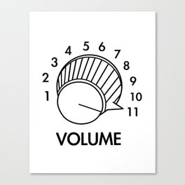 Volume Knob Up To 11 Spinal Tap Inspired Funny Guitar Canvas Print