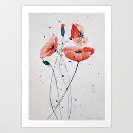 Poppies no 2 Art Print