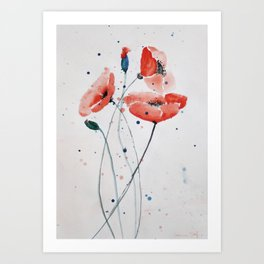 Poppies no 2 Art Print