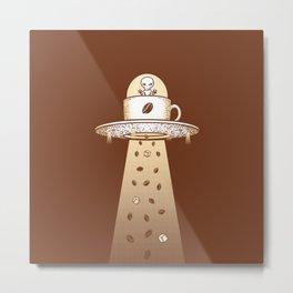 Alien Coffee Invasion Metal Print