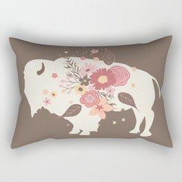 Floral Buffalo Rectangular Pillow