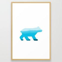 Blue Bear - Wildlife Series Framed Art Print