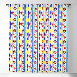 Summertime Seaside Happy Days Colorful Pattern Blackout Curtain