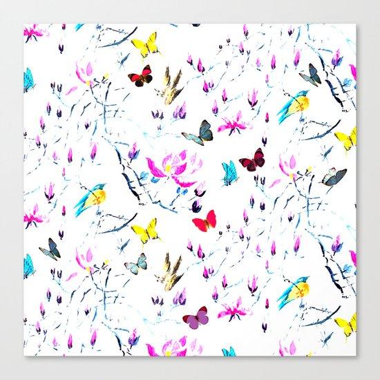 Butterflies Forest Canvas Print