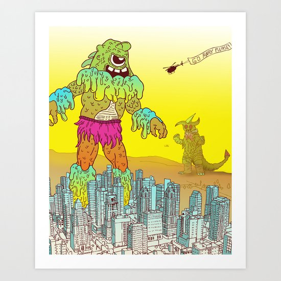 Giant Monster Diplomacy Art Print