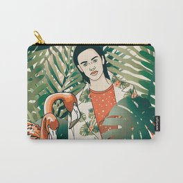 Flamenco and jungle girl Carry-All Pouch