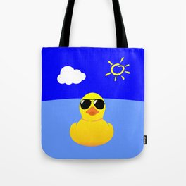 Cool Rubber Duck Yellow Tote Bag