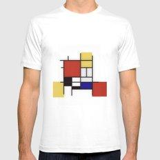 Piet Mondrian MEDIUM Mens Fitted Tee White