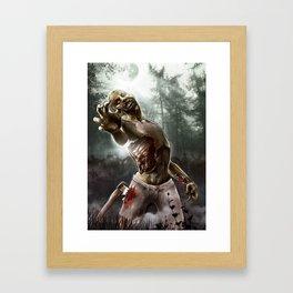 Zombie Walkers of The Living Dead Framed Art Print