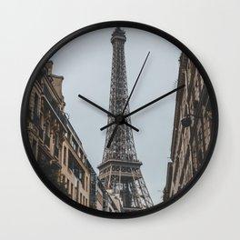 Eiffel Tower Street Views Wall Clock