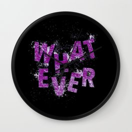 Purple Whatever Wall Clock