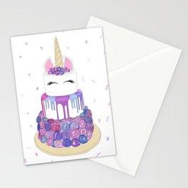 Magical Unicorn Cake Stationery Cards