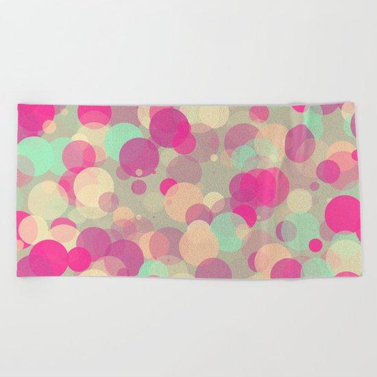 Colorful Bubbles 2 Beach Towel