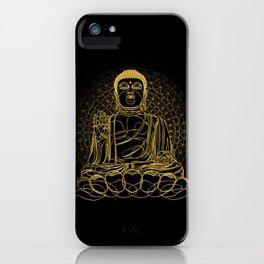 Golden Buddha on Black iPhone Case