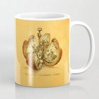 clockwork orange Mugs featuring Steampunk Orange  (color option) by Eric Fan