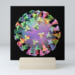 Pandemic Rainbow Virus Mini Art Print