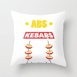 Funny Kebab Food Lover Six Pack Workout Throw Pillow