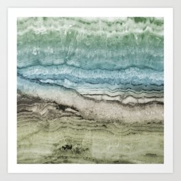 Mystic Stone Emerge Art Print