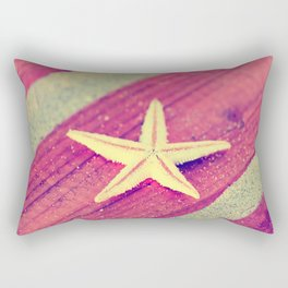 Stars and Stripes on the beach Rectangular Pillow