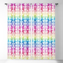 Tie Dye Rainbow Blackout Curtain