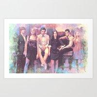 gossip girl Art Prints featuring Gossip Girl American TV series by Nechifor Ionut
