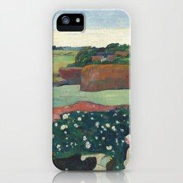 Haystacks in Brittany (1890) by Paul Gauguin. iPhone Case