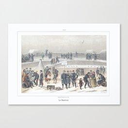 Paris art print Paris Decor office decoration vintage decor SIEGE & BASTION of Paris Canvas Print