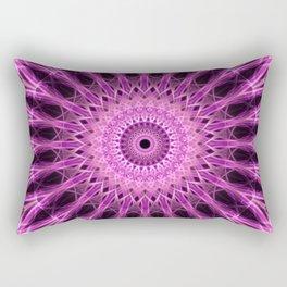 Pink floral mandala Rectangular Pillow