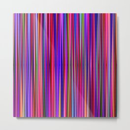 Vivid Stripes 2B Metal Print