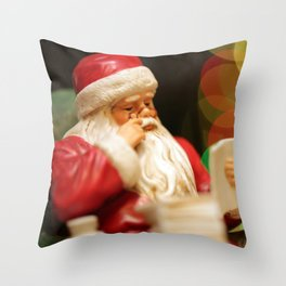 He's Making a List Throw Pillow