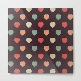 Retro love pattern Metal Print