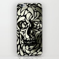 dark iPhone & iPod Skins featuring Skull by Ali GULEC