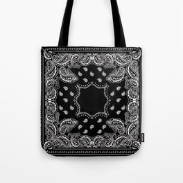 Bandana Black & White Tote Bag
