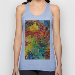 Upright Stained Twist Unisex Tank Top